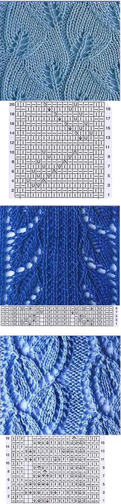 Leaf type Knitting pattern