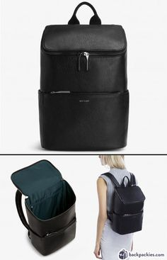 Matt & Nat Brave Dwell backpack for women – A minimalist & sophisticated women… Backpack Outfit, Fashion Backpack, Matt And Nat Backpack, Best Work Bag, Black Leather Backpack, Leather Laptop Backpack, Minimalist Bag, Vegan Boots, Work Bags