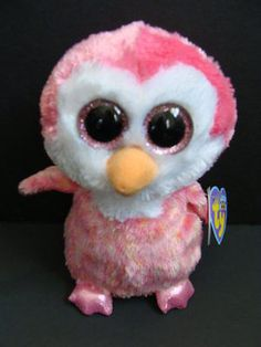 "NWT TY Beanie Boos 6"" CHILLZ Pink Penguin Plush Baby Boo Exclusive 2013 NEW"