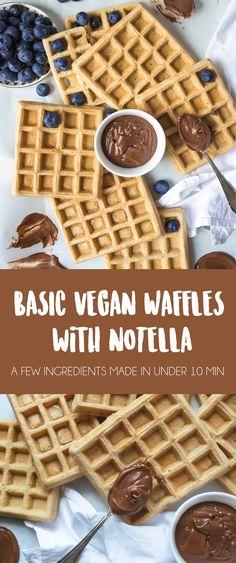 Basic Vegan Waffles for beginners