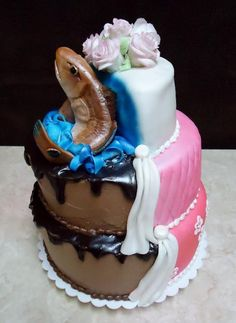 split wedding Cakes | Found on craftsy.com