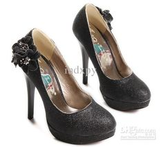 Shimmering Black High Heels. US $37.75. Free Shipping.
