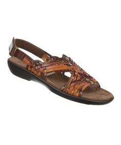 Another great find on #zulily! Coffee Laden Leather Sandal #zulilyfinds