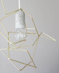 lampara de diseño geometrico