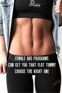 [Article and Tips] female abs programs can get you that flat tummy #women #Abs #Workout #fitness #fatloss #inspiration