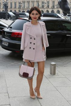 Miroslava Duma Photos - Miroslava Duma attends Roland Mouret show as part of the Paris Fashion Week Womenswear Spring/Summer 2014 in Paris. - Miroslava Duma at Paris Fashion Week Look Fashion, Winter Fashion, Womens Fashion, Fashion Trends, Paris Fashion, Dress Fashion, Fashion Spring, Mode Rose, Look Street Style