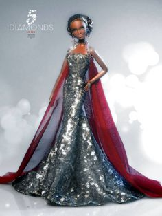 5 Diamonds in Red. Barbie Ooak doll by David Bocci for Refugio Rosa.