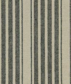 Robert Allen Hudson Stripe Black Fabric - $35.85 | onlinefabricstore.net