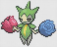 315 Roselia Pokemon Cross Stitch, Canvas Patterns, Perler Beads, Pixel Art, Beats, Nintendo, Design, Hama, Hipster Stuff