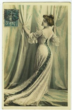 c1910 French Theater Beauty SHAPELY MANON Loti Cabaret Music Hall photo postcard