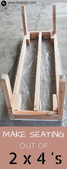 Learn how to make your own bench using 2x4's from homedepot. Super affordable seating.