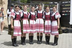 Kubrá (today part of town Trenčín), Považie region, Western Slovakia. Folk Embroidery, Beautiful Costumes, Melting Pot, Folk Costume, Eastern Europe, Ancient Art, People Around The World, Czech Republic, Costumes For Women