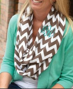 Monogrammed women's chevron scarf by katieUjanes on Etsy, $35.00