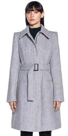 Cue Clothing, Belted Coat, News Design, Work Wear, Peplum, Coats, Shirt Dress, Wool, Sexy