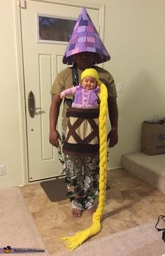 Baby Rapunzel in her Tower Halloween Costume Idea