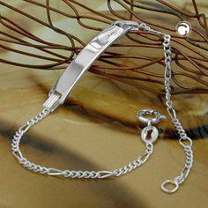 Schildband, Figaro 5+1, Silber 925 17cm accessorize24-110027-17