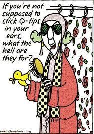 Maxine Cartoon on Q-tips