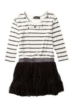 Stripe Tutu Dress (Little Girls & Big Girls) by Hanna Banana on @HauteLook