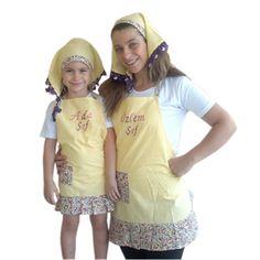 Anne Kız Kişiye Özel Mutfak Önlüğü- Anne