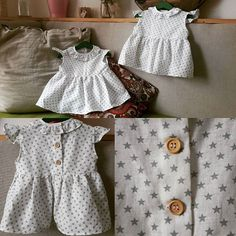 ¡Dos hermanas van a ir bien guapas este verano con estas camisitas de lino con estrellitas verdes! ¡Qué ganas de vérselas puestas! By @scbarcelona.handmade  #SCBarcelona #barcelona #ropabebe #kidsfashion #couture #fetama #hechoamano #camisaslino #linen