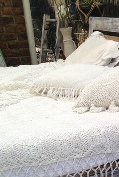 Crochet throw, boho throw, bohemian blanket, white throw, cream throw, white bed spread, tasseled by mayoBABY on Etsy https://www.etsy.com/listing/239340841/crochet-throw-boho-throw-bohemian