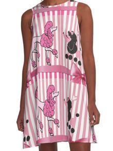 Snooty Parisian Poodles A-Line Dress