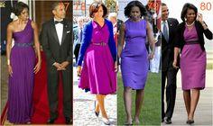 michelle obama purpura Michelle Obama Fashion, Diva Fashion, Ms, Dresses For Work