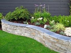limestone raised bed garden edging ideas