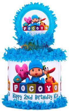 Adorable personalized Pocoyo pinata