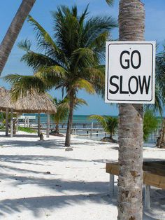 "Caye Caulker, Belize, where ""go slow"" is the motto."