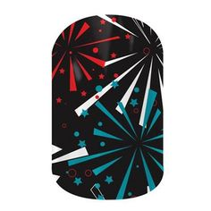 Fireworks by Jamberry Nail Wraps. Made for graphic lovers everywhere, this fun and bold collection features a wide array of striking patterns, prints and vivid colors. Lasts up to 2 weeks on fingernails and 4 weeks on toenails.