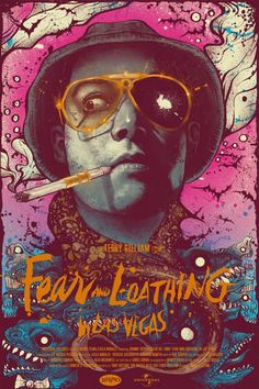 Fear and Loathing in Las Vegas movie poster by Nikita Kaun Movie Posters 2016, Cinema Posters, Movie Poster Art, Poster S, Cool Posters, Plakat Design, Fear And Loathing, Kunst Poster, Alternative Movie Posters