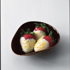 White-Chocolate-Dipped Strawberries with Citrus Sugar