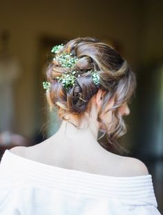 wedding hair with flowers - would be great if I went with my spring wedding idea