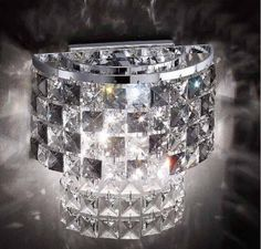 58.22$  Watch here - http://ali246.shopchina.info/go.php?t=32331895238 - Hot selling Crystal Wall Sconces With E14 Crystal wall lamp Chrome / Gold living room Bedroom modern bedside wall lights KF106 58.22$ #aliexpresschina