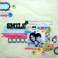Smile  scrapbook page