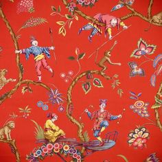 "Chinoiserie - ""Chinoise Exotique"" - by Scalamandre --- Prefer the dark teal background Et Wallpaper, Chinoiserie Wallpaper, Chinoiserie Chic, Fabric Wallpaper, Chinoiserie Fabric, Asian Wallpaper, Belle Epoque, Chinese Fabric, Asian Decor"