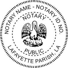 Louisiana Notary rubber stamp