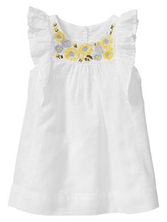 Gap | Embroidered sunflower dress