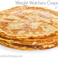 This Weight Watchers crepe recipe is super easy and delicious with no butter or oil, 62 calories, 1 WW Freestyle SmartPoints, 2 PointsPlus each! Grab the Recipe @ Weight Watchers Snacks, Pancakes Weight Watchers, Weight Watchers Breakfast, Weight Watcher Dinners, Weight Watchers Free, Crepe Recipes, Ww Recipes, Low Calorie Recipes, Cooking Recipes