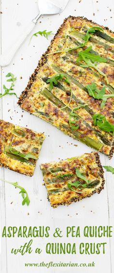 Asparagus & Pea Quiche With A Quinoa Crust [vegetarian] by The Flexitarian