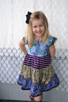 100% Recycled Material Handmade Pixie Goth Girls Dress Tiger Swallowtail by #GypsyMountainBazaar