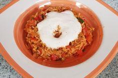 Paprika-Reispfanne mit Joghurtsauce 1