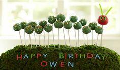 Very Hungry Caterpillar. Birthday party. Cake pops. #veryhungrycaterpillar