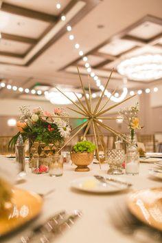 every last detail | wedding inspiration | centerpiece | glitter | DIY | star | creative wedding decor | table decor