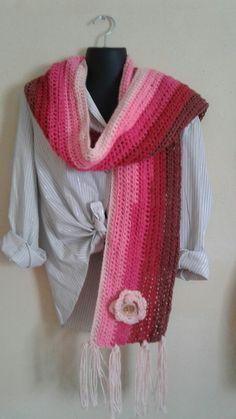 Caron cake yarn scarf by Eve of minas  creations