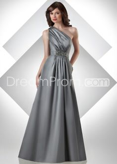 Gorgeous Beaded Sheath/Column One-Shoulder Floor-length Bridesmaid Dresseses