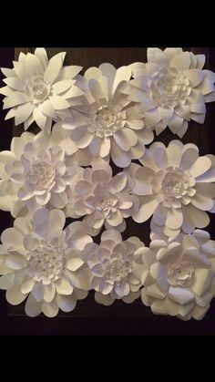 Paper Flower Wall Artistic Arrangement  9 by FantasyinFlorals