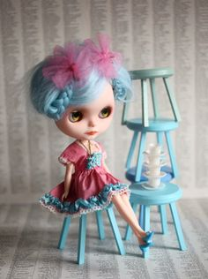 Mab Couture - The Cheshire Cat Dress Set - ooak by UtterMabness