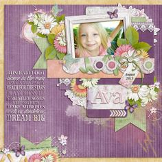 Credit: Piccalilli Template by Little Green Frog Designs and Hydrangea Blossom Collection by Kimeric Kreations